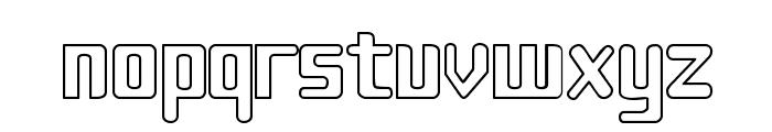 Sujeta Outline Font LOWERCASE