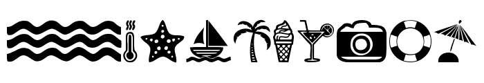 Summer Icons Font OTHER CHARS