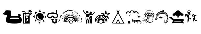 Summer Icons Font LOWERCASE