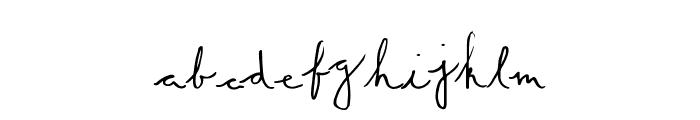 SummerScript Font LOWERCASE