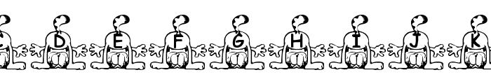 Summer's Garfield Font LOWERCASE