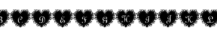 Summer's LaceHearts Font UPPERCASE