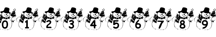Summers Snowman Font OTHER CHARS