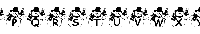 Summers Snowman Font LOWERCASE