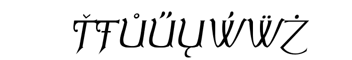 Summertime Extra Oblique Font OTHER CHARS
