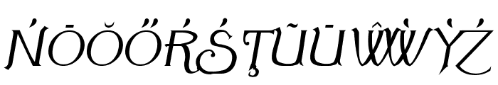 Summertime Extra Oblique Font UPPERCASE