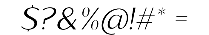 Sumptuous-LightItalic Font OTHER CHARS