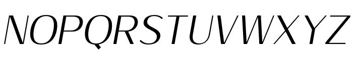 Sumptuous-LightItalic Font UPPERCASE