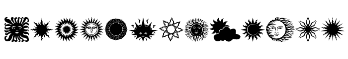 Sun n Moon Font LOWERCASE