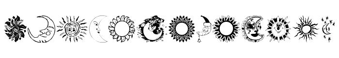 SunandMoon Font LOWERCASE