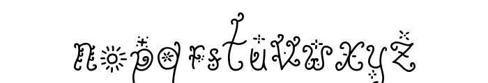 Sunflower Font LOWERCASE