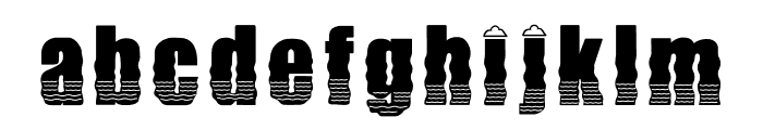 SunnySand Font LOWERCASE