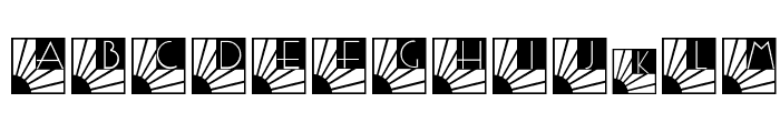 SunriseSunset Font LOWERCASE