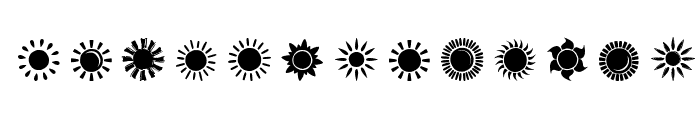 Suns and Stars Font UPPERCASE