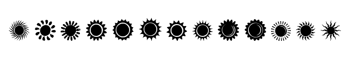 Suns and Stars Font LOWERCASE