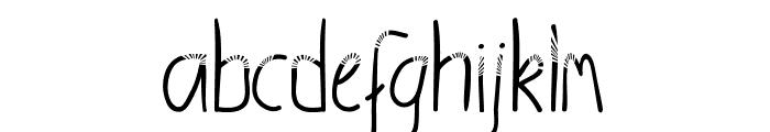 SunshineRegular Font LOWERCASE