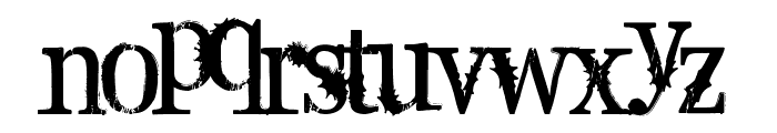 Supafly 36 Font LOWERCASE