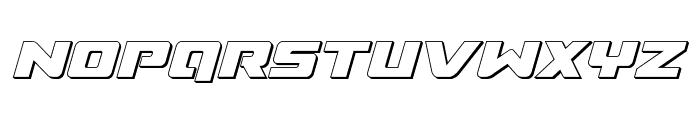 Super Commando 3D Italic Font UPPERCASE