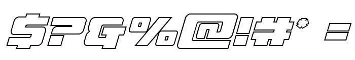 Super Commando Outline Italic Font OTHER CHARS