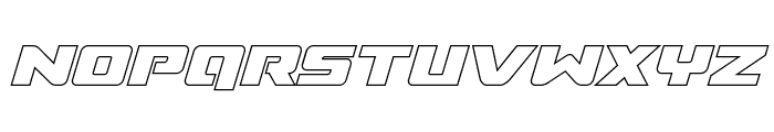 Super Commando Outline Italic Font UPPERCASE