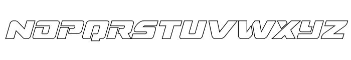 Super Commando Outline Italic Font LOWERCASE