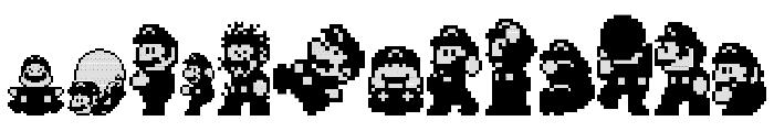 Super Mario World - Mario Font UPPERCASE