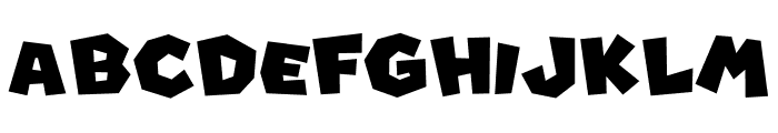 Super Mario Font UPPERCASE