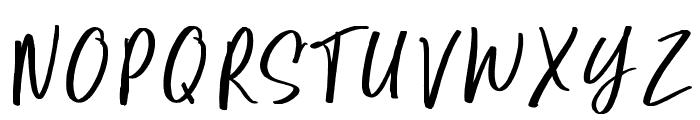 Super Natural Font UPPERCASE