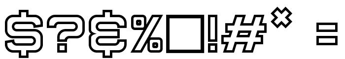Super Quick Formula Hollow Font OTHER CHARS