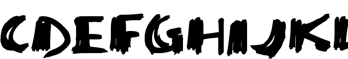 Super Sketch Font UPPERCASE