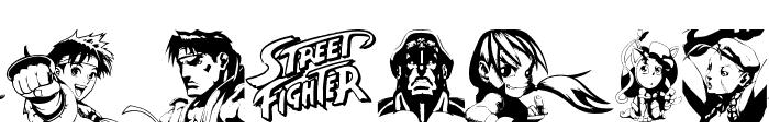 Super Street Fighter Hyper Fonting Font UPPERCASE