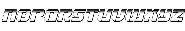 Super Submarine Chrome Italic Font UPPERCASE