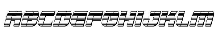 Super Submarine Chrome Italic Font LOWERCASE