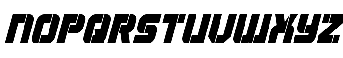Super Submarine Condensed Italic Font UPPERCASE