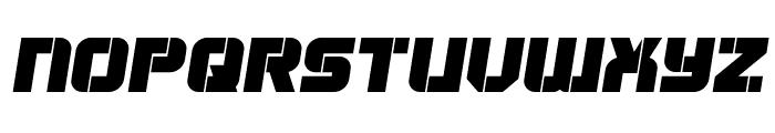 Super Submarine Semi-Italic Font UPPERCASE
