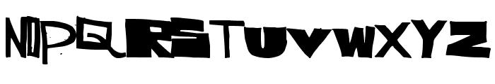 SuperCut Font UPPERCASE
