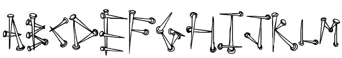 SuperTack Font LOWERCASE