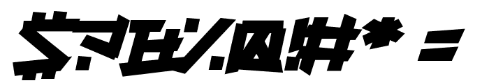 Supercarver Font OTHER CHARS