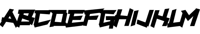 Supercarver Font UPPERCASE