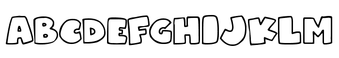 Superchunky Font UPPERCASE