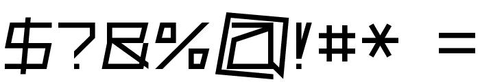 Superconductive Medium Font OTHER CHARS