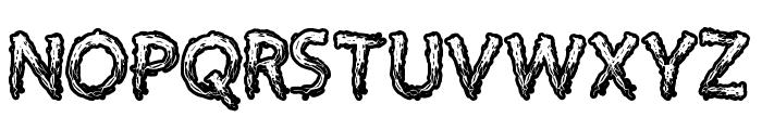 Supercreep Font UPPERCASE