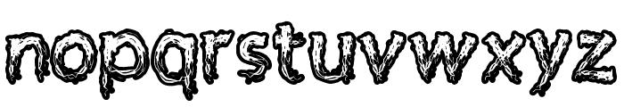 Supercreep Font LOWERCASE