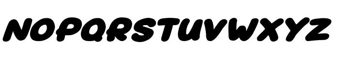 Superfats Italic Font UPPERCASE