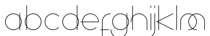 Superfine Light Font LOWERCASE