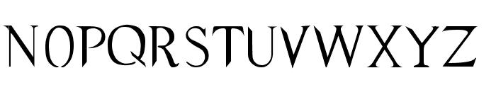 Supernatural Knight Font UPPERCASE