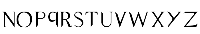 Supernatural Knight Font LOWERCASE