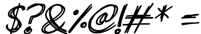 Superscratchy Italic Font OTHER CHARS