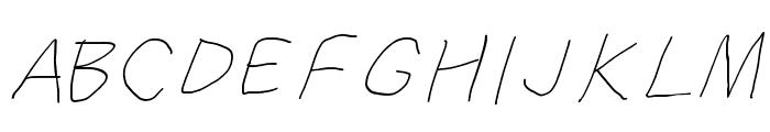SuplexDriver Hairline Oblique Font UPPERCASE