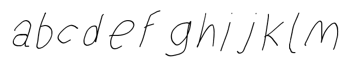 SuplexDriver Hairline Oblique Font LOWERCASE